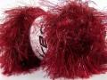 Faux fur glitz - červená