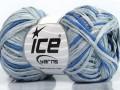 Fettuccia bavlna - modré odstíny