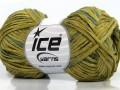 Fettuccia bavlna - zelené odstíny