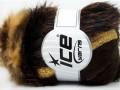 Furry Hat - hnědozlaté odstíny