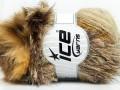 Furry Hat - krémovohnědozlatá