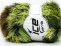 Furry Hat - zelenohnědé odstíny
