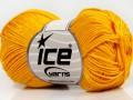 Giza bavlna - tmavě žlutá