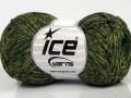 Graphite bavlna - zelené odstíny