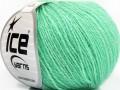 Hedvábné merino - mátově zelená