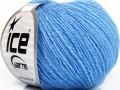 Hedvábné merino - modrá