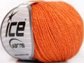 Hedvábné merino - oranžová