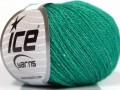 Hedvábné merino - smaragdově zelená