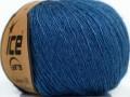 Kašmír-Hedvábí Exclusive - jeansově modrá