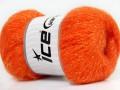 Kid mohér pearl - oranžová