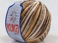 Letní mercerovaná bavlna - hnědovelbloudíbílá