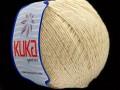 Letní mercerovaná bavlna - krémová