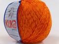 Letní mercerovaná bavlna - oranžová