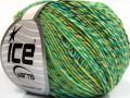 Lorena colorful - zelenotyrkysovopurpurovožlutá