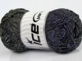 Macrame cord - černostříbrná