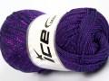 Macrame cord - purpurová 2