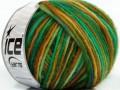 Magic felt vlna - zelenohnědé odstíny