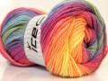 Magic light - purpurovorůžovomodrozelená