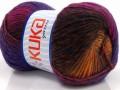 Magic wool de luxe - hnědoměděnofialová