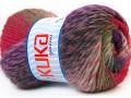 Magic wool de luxe - levandulovočervenozelná