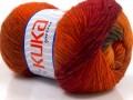 Magic wool de luxe - oranžovohnědočervená