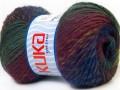 Magic wool de luxe - purpurovozelné odstíny