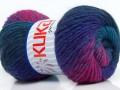 Magic wool de luxe - purpurovšedotyrkysová