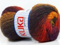 Magic wool de luxe - žlutočervenopurpurovotmavě šedá