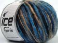 Merino extrafajn colors - modročernocamel
