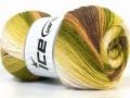 Merino Gold Batik - zelenohnědé odstíny