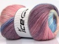 Mohér magic glitz - fialovomodrobílorůžová