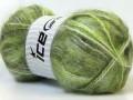 Mohér - zelenobílé odstíny