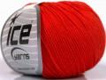 Organická dětská bavlna - červená