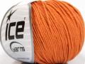 Organická dětská bavlna - oranžová