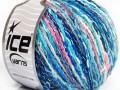 Pastelová bavlna - modrotyrkysovolososová