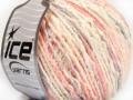 Pastelová bavlna - růžovofialovokrémová