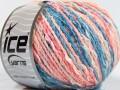 Pastelová bavlna - růžovomodré odstíny