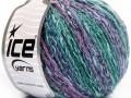 Pastelová bavlna - zelenofialová