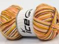 Plaid bavlna - zlatovelbloudílososovobílá