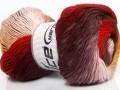 Primadonna - červenokaštanovožlutobílá