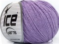 Přírodní baby bavlna - fialová