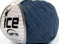 Přírodní baby bavlna - jeansově modrá