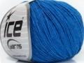 Přírodní baby bavlna - modrá