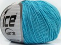 Přírodní baby bavlna - světle modrá 1
