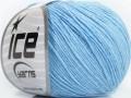 Přírodní baby bavlna - světle modrá