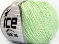 Přírodní baby bavlna - světle zelená 1