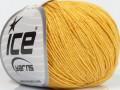Přírodní baby bavlna - tmavě žlutá