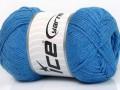 Přírodní bavlna air - indigo modrá