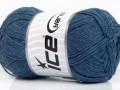 Přírodní bavlna air - jeansově modrá