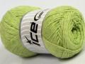 Přírodní bavlna air - pistáciově zelená